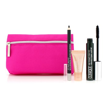 Clinique High Impact Favourites Set: High Impact Mascara + Cream Shaper For Eyes + All About Eyes Serum + Bag
