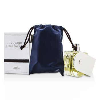 Hermes Voyage D'Hermes Eau De Toilette Refillable Spray (Chevon Canvas Limited Edition)
