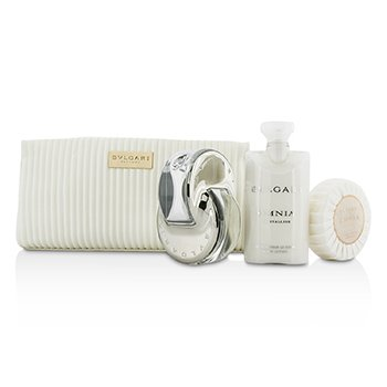 Bvlgari Omnia Crystalline Coffret: Eau De Toilette Spray 65ml/2.2oz + Soap 75g/2.6oz + Body Lotion 75ml/2.5oz + Pouch