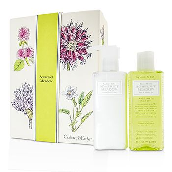 Crabtree & Evelyn Somerset Meadow Duo: Bath & Shower Gel 200ml + Body Lotion 200ml