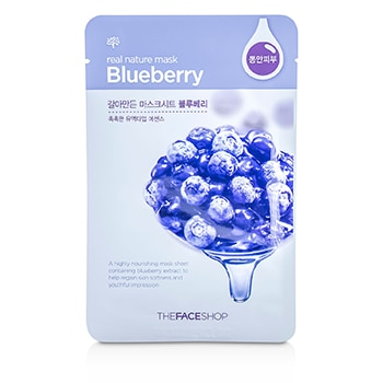 The Face Shop Real Nature Mask - Blueberry (Highly Nourishing)