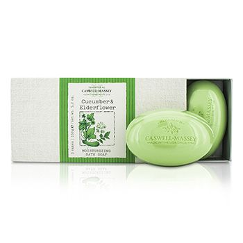 Caswell Massey Cucumber & Elderflower Moisturizing Bath Soap Set