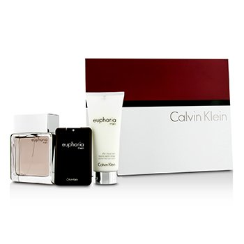 Calvin Klein Euphoria Coffret: Eau De Toilette Spray 100ml/3.4oz + After Shave Balm 100ml/3.4oz + Eau De Toilette 20ml/0.67oz
