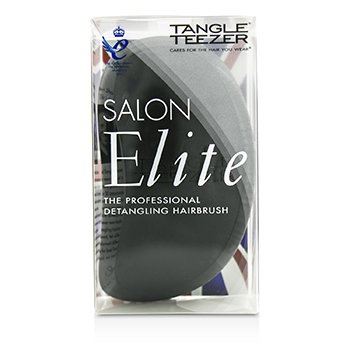 Tangle Teezer Salon Elite Professional Detangling Hair Brush - Midnight Black (For Wet & Dry Hair)