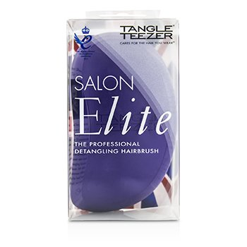 Tangle Teezer Salon Elite Professional Detangling Hair Brush - # Purple Crush (For Wet & Dry Hair)