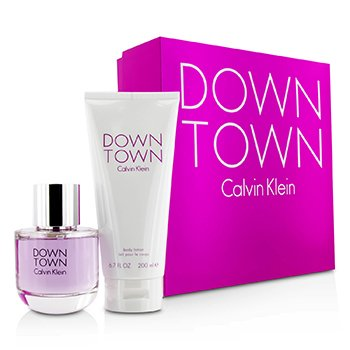 Calvin Klein Downtown Coffret: Eau De Parfum Spray 90ml/3oz + Body Lotion 200ml/6.7oz (Pink Box)