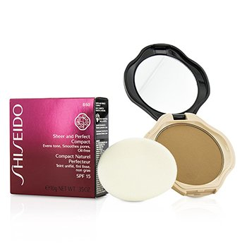 Shiseido Sheer & Perfect Compact Foundation SPF15 - #B60 Natural Deep Beige