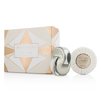 Bvlgari Omnia Crystalline Coffret: Eau De Toilette Spray 40ml/1.35oz + Scented Soap 150g/5.3oz