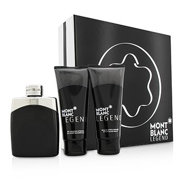 Mont Blanc Legend Coffret: Eau De Toilette Spray 100ml/3.3oz + After Shave Balm 100ml/3.3oz + All-Over Shower Gel 100ml/3.3oz