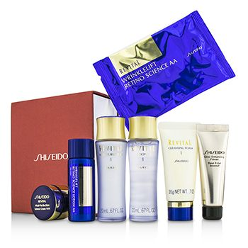 Shiseido Revital Set: Cleansing Foam I + Lotion EX I  + Moisturizer EX I  + Primer + Lotion AA  + Cream AAA  + Eye Mask 1pair