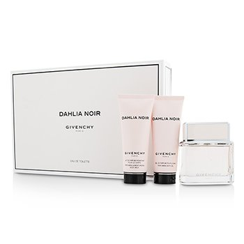 Givenchy Dahlia Noir Coffret: Eau De Toilette Spray 75ml/2.5oz + Body Milk 75ml/2.5oz + Bath Gel 75ml/2.5oz