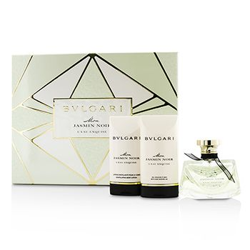 Bvlgari Mon Jasmin Noir LEau Exquise Coffret: Eau De Toilette Spray 50ml/1.7oz + Bath & Shower Gel 75ml/2.5oz + Body Lotion 75ml/2.5oz