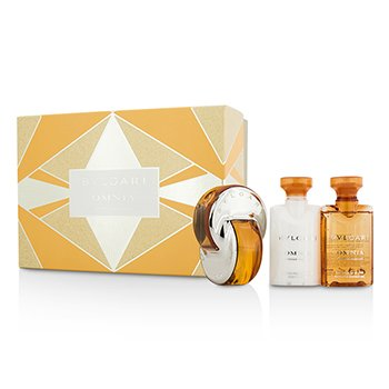 Bvlgari Omnia Indian Garnet Coffret: Eau De Toilette Spray 40ml/1.35oz + Body Lotion 40ml/1.35oz + Bath & Shower Gel 40ml/1.35oz