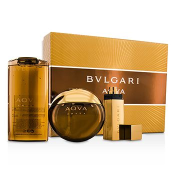 Bvlgari Aqva Amara Coffret: Eau De Toilette Spray 100ml/3.4oz + Shampoo & Shower Gel 200ml/6.8oz + Eau De Toilette Spray 15ml/0.5oz