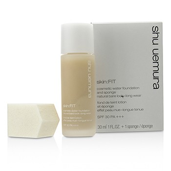Shu Uemura Skin:Fit Cosmetic Water Foundation and Sponge SPF30 - #784 Fair Beige