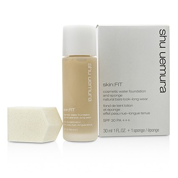 Shu Uemura Skin:Fit Cosmetic Water Foundation and Sponge SPF30 - #764 Medium Light Beige