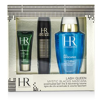 Helena Rubinstein Lash Queen Mystic Blacks Mascara Set: Mascara 7ml/0.24oz + MakeUp Remover 50ml/1.69oz + Powercell 3ml/0.15oz