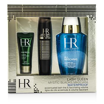 Helena Rubinstein Lash Queen Mystic Blacks Waterproof Mascara Set: Mascara 7ml/0.24oz + MakeUp Remover 50ml/1.69oz + Powercell 3ml/0.15oz