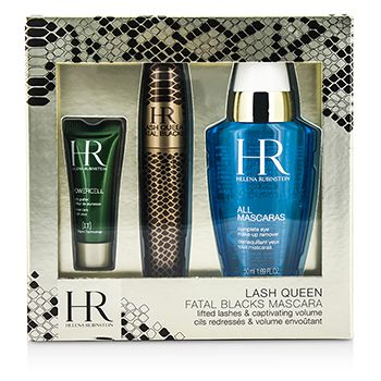 Helena Rubinstein Lash Queen Fatal Blacks Mascara Kit: Mascara 7.2ml/0.24oz + MakeUp Remover 50ml/1.69oz + Powercell 3ml/0.15oz