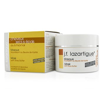 J. F. Lazartigue Mask with Shea Butter - Paraben Free (For Dry & Thick Hair)