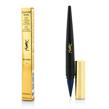 Yves Saint Laurent Couture Kajal 3 in 1 Eye Pencil (Khol/Eyeliner/Eye Shadow) - #2 Bleu Cobalt