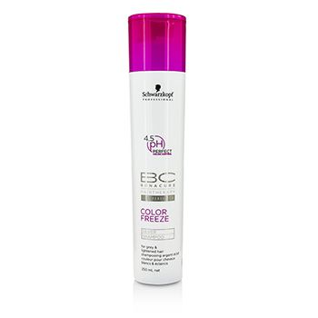 Schwarzkopf BC Color Freeze pH 4.5 Silver Shampoo (For Grey & Lightened Hair)