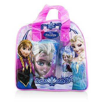 Air Val International Disney Frozen Coffret: Eau De Toilette Spray 100ml/3.4oz + Plastic Cup with Straw + Bag