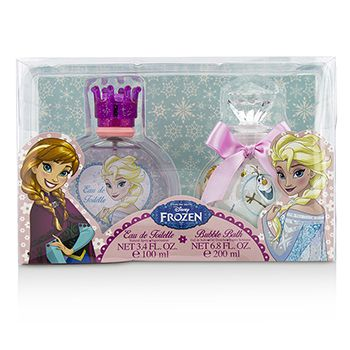 Air Val International Disney Frozen Coffret: Eau De Toilette Spray 100ml/3.4oz + Bubble Bath 200ml/6.8oz