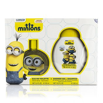 Air Val International Minions Coffret: Eau De Toilette Spray 100ml/3.4oz + Shower Gel & Shampoo 300ml/10.2oz