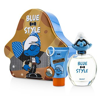 The Smurfs Brainy Coffret: Eau De Toilette Spray 100ml/3.4oz + Shower Gel 75ml/2.5oz + Key Chain