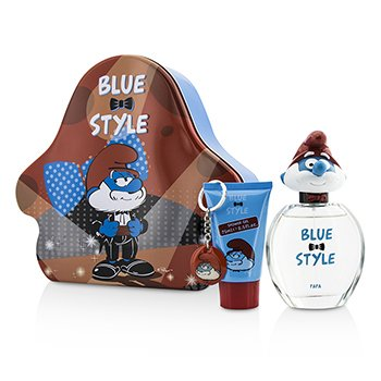 The Smurfs Papa Coffret: Eau De Toilette Spray 100ml/3.4oz + Shower Gel 75ml/2.5oz + Key Chain