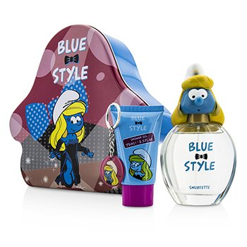 The Smurfs Smurfette Coffret: Eau De Toilette Spray 100ml/3.4oz + Shower Gel 75ml/2.5oz + Key Chain