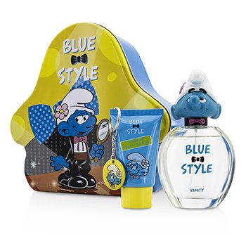 The Smurfs Vanity Coffret: Eau De Toilette Spray 100ml/3.4oz + Shower Gel 75ml/2.5oz + Key Chain