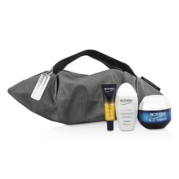 Biotherm Blue Therapy X Mandarina Duck Coffret: Cream SPF15 N/C 50ml + Serum-In-Oil 10ml + Cleansing Water 30ml + Handle Bag
