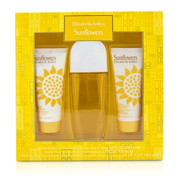 Elizabeth Arden Sunflowers Coffret: Eau De Toilette Spray 100ml/3.3oz + Body Lotion 100ml/3.3oz + Hydrating Cream Cleanser 100ml/3.3oz