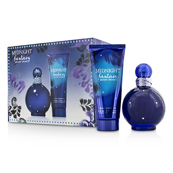 Britney Spears Midnight Fantasy Coffret: Eau De Parfum Spray 100ml/3.3oz + Body Souffle 100ml/3.3oz