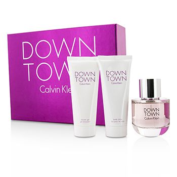 Calvin Klein Downtown Coffret: Eau De Parfum Spray 90ml/3oz + Body Lotion 100ml/3.4oz + Shower Gel 100ml/3.4oz