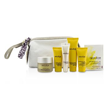 Decleor Gift Set: Night Balm 30ml + Rich Cream 15ml + Night Cream 15ml + Lip Balm 10ml + Massage Balm 25ml + Aromessenc Iris 1ml + Bag