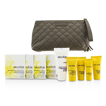 Decleor Travel Set: Day Cream 15ml + Rich Cream 15ml + Night Cream 15ml + Night Balm 5ml + Body Milk 50ml + 4 Samples + Bag
