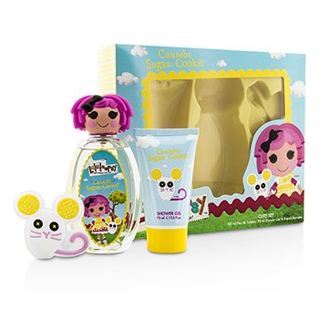 Lalaloopsy Crumbs Sugar Cookie Cute Coffret: Eau De Toilette Spray 100ml/3.4oz + Shower Gel 75ml/2.5oz + French Barrette