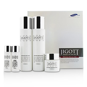 Jigott Angels In The Sky Whitening Skin Care Set: Skin Toner 150ml + Skin Emulsion 150ml + Moisture Cream 50g......