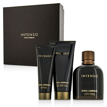 Dolce & Gabbana Intenso Coffret: Eau De Parfum Spray 125ml/4.2oz + After Shave Balm 75ml/2.5oz + Shower Gel 50ml/1.6oz