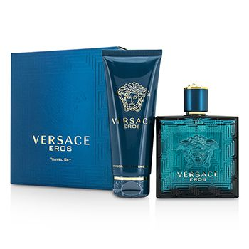 Versace Eros Coffret: Eau De Toilette Spray 100ml/3.4oz + Shower Gel 100ml/3.4oz