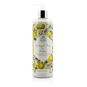 Woods Of Windsor Honeyed Pear & Amber Moisturising Hand & Body Lotion