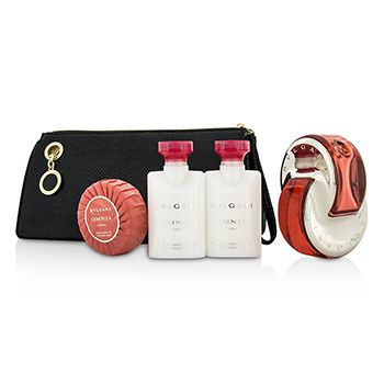 Bvlgari Omnia Coral Coffret: Eau De Toilette Spray 65ml/2.2oz + Body Lotion 40ml/1.3oz + Shower gel 40ml/1.3oz+Soap 50g/1.7oz + Pouch