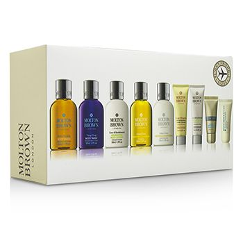 Molton Brown Refresh & Rejuvenate Travel Collection: Body Wash+Body Lotion+Shampoo+Conditioner+Hand Cream+Lipsaver+Eye Concentrate