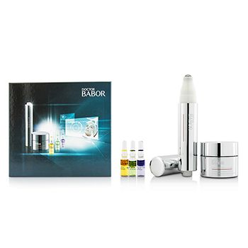 Babor Doctor Babor Set: Cream 30ml+Eye Cream 15ml+Glow Booster Ampoule 1ml+Stress-Relief Ampoule 1ml+Youth Control Ampoule 1ml