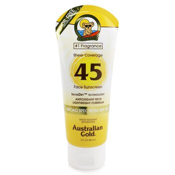 Australian Gold Sheer Coverage Faces Sunscreen Broad Spectrum SPF 45