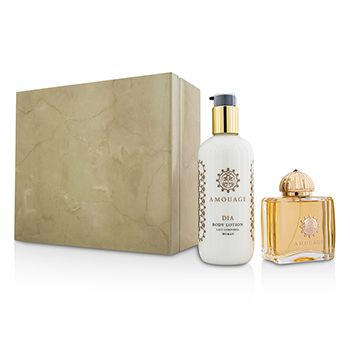 Amouage Dia Coffret: Eau De Parfum Spray 100ml/3.4oz + Body Lotion 300ml/10oz