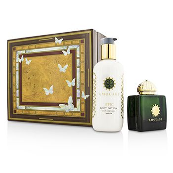 Amouage Epic Coffret: Eau De Parfum Spray 100ml/3.4oz + Body Lotion 300ml/10oz